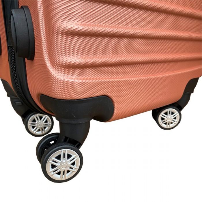 Travelerz reiskoffer met wielen 95 liter - lichtgewicht - cijferslot - rose goud (1627)
