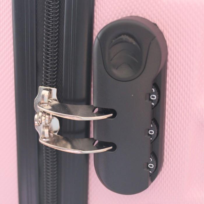 Travelerz kofferset 3 delig met wielen en cijferslot - handbagage koffers - ABS - licht roze