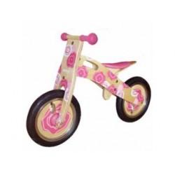 Simply for Kids houten loopfiets Pink Flower