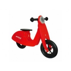 Simply for Kids houten loopscooter rood