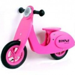 Simply for Kids houten loopscooter roze