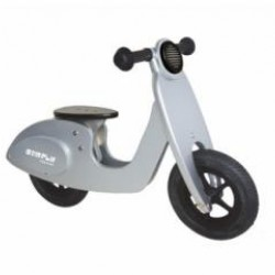 Simply for Kids houten loopscooter zilver