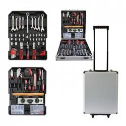 DeBlock gereedschapskoffer gevuld - 254 delig - aluminium trolley