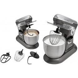 MasterKitchen 1200 watt RVS keukenmachine 6,5 liter 4KG KM 383 BC zilver