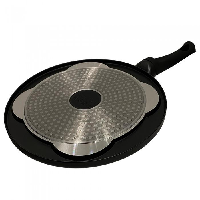 Cheffinger Crêpemaker pancake - Ø 26 cm - geschikt voor inductie - koudgreep - zwart