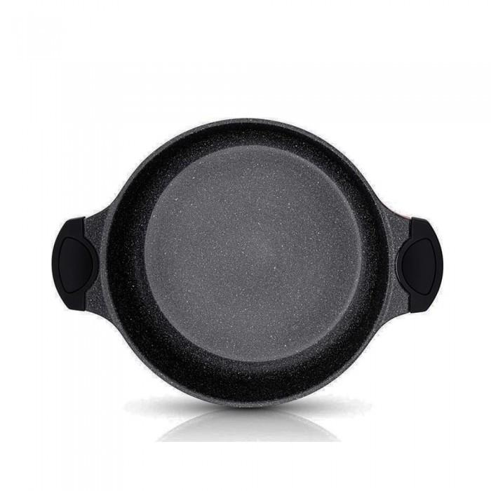 Cheffinger Tajine Tagine inductie pan Ø 28 cm - aluminium - zwart met koudgrepen