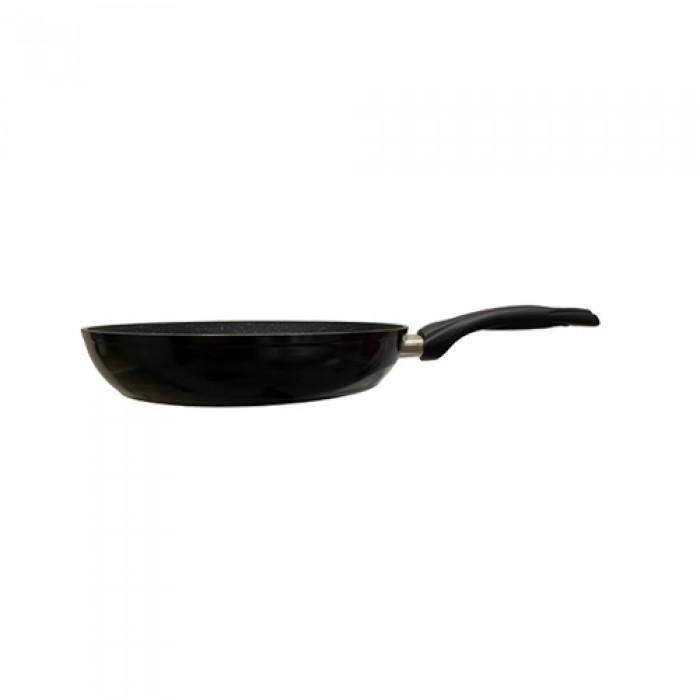 HerZog 3-delige marmeren pannenset koude handgrepen zwart