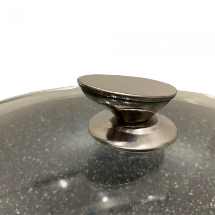 Kookkunst Holland braadpan met deksel marmeren coating - inductie - koude handgrepen - Ø 24 cm