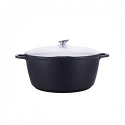 Kookkunst Holland braadpan met glazen deksel marmeren coating - inductie - Ø 28 cm