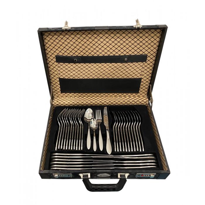 Royal Swiss 72 delige roestvrijstalen bestekset 12 personen met luxe koffer mat/glans