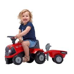 Falk Case IH Trap-Tractor + Aanhanger + accessoires