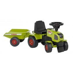 Falk Claas Axos 310 tractor met aanhanger groen