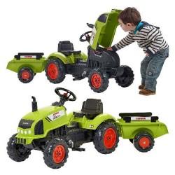 Falk Claas Tractor Arion 410 Tractor + Aanhanger 2-5