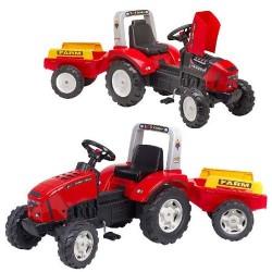 Falk Lander Z240X Tractor met Aanhanger 3-7