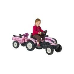 Falk Princess Tractor Pink + Aanhanger 2/5