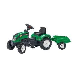Falk Ranch Tractor + Aanhanger Groen 2+