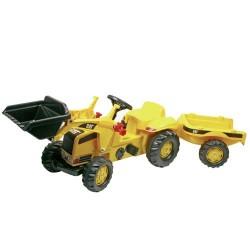Rolly Toys 023288 RollyKid CAT Tractor met Lader en Aanhanger