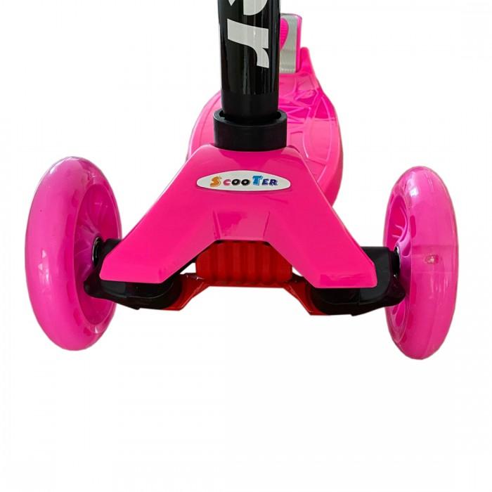 DeBlock kinderstep met 3 lichtgevende wielen - 3 jaar - verstelbaar stuur - voetrem - roze
