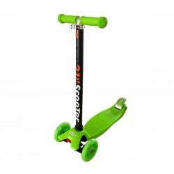 DeBlock kinderstep met 3 lichtgevende wielen - 3 jaar - verstelbaar stuur - voetrem - groen