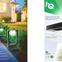 HQ HQLEDWLOUT05 LED Vloer/Wandlamp IP54 6W 120LM Zwart Buiten
