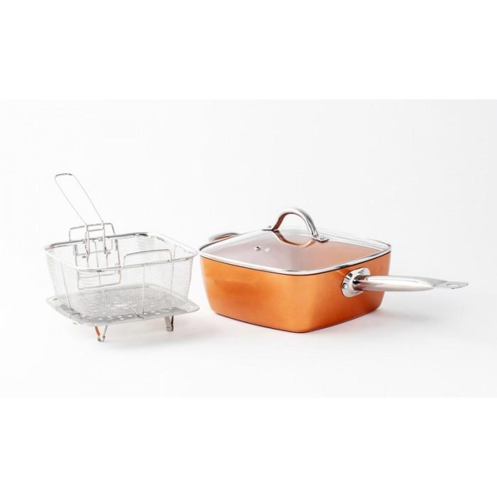 DeBlock Platinum multifunctionele braadpan geschikt voor inductie - 24 cm - 5,4 liter - koper