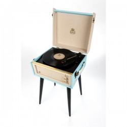 GPO BERMUDABLU kofferplatenspeler met ingebouwde speakers op pootjes