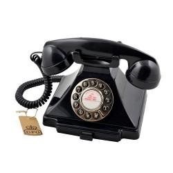 GPO 1929SPUSHBLA retro telefoon klassiek bakeliet jaren '20 ontwerp