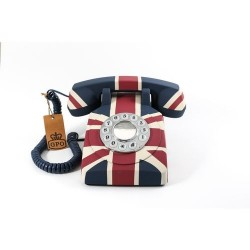 GPO 1970UNIONJACK Telefoon met druktoetsen met Britse Union Jack vlag