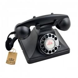 GPO 200BLA retro telefoon met draaischijf