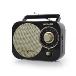 Muse M-055RB Draagbare radio vintage style