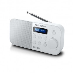 Muse M-109DBW Compacte digitale DAB+ / FM radio wit