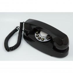 GPO 1959AUDREYBLA Retro Audrey telefoon met druktoetsen klassiek ontwerp zwart