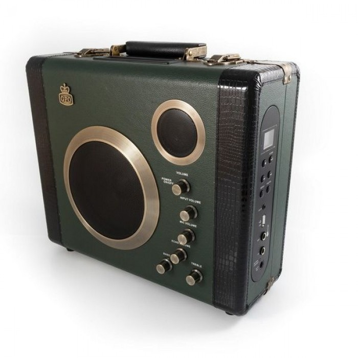 GPO MANGAGRE Koffer Bluetooth speaker/versterker