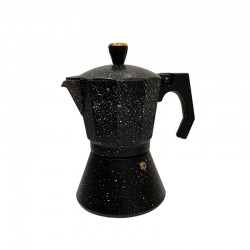 Rosenberg Espresso maker inductie aluminium - percolator 12 kops – zwart