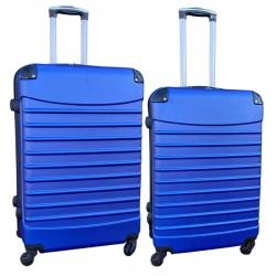 Travelerz kofferset 2 delige ABS groot - met cijferslot - reiskoffers 69 en 95 liter - blauw