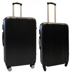 Travelerz kofferset 2 delige ABS groot - met cijferslot - reiskoffers 69 en 95 liter - zwart (168)