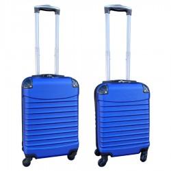 Travelerz kofferset 2 delige ABS handbagage koffers - met cijferslot - 27 en 39 liter – blauw