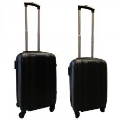 Travelerz kofferset 2 delige ABS handbagage koffers - met cijferslot - 27 en 39 liter – zwart (168)