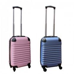 2 delige ABS handbagage kofferset 27 liter licht blauw en licht roze (228)