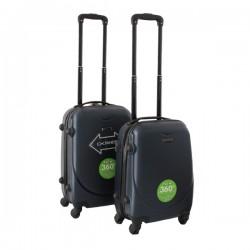2 delige ABS lichtgewicht harde handbagage kofferset met cijferslot blauw