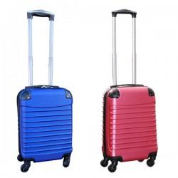 Travelerz kofferset 2 delige ABS handbagage koffers - met cijferslot - 27 liter - blauw - roze