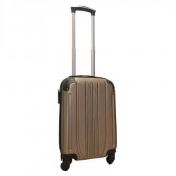 Travelerz handbagage koffer met wielen 27 liter - lichtgewicht - cijferslot - champagne (168)
