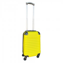 Travelerz handbagage koffer met wielen 27 liter - lichtgewicht - cijferslot - geel