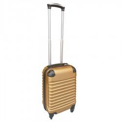 Travelerz handbagage koffer met wielen 27 liter - lichtgewicht - cijferslot goud