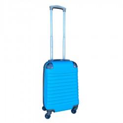 Travelerz handbagage koffer met wielen 27 liter - lichtgewicht - cijferslot licht blauw