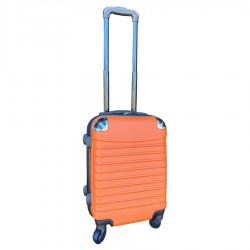 Travelerz handbagage koffer met wielen 27 liter - lichtgewicht - cijferslot - oranje