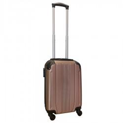 Travelerz handbagage koffer met wielen 27 liter - lichtgewicht - cijferslot - rose goud (168)