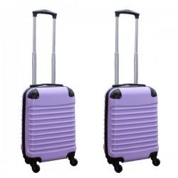 Travelerz kofferset 2 delige ABS handbagage koffers - met cijferslot - 27 liter - lila