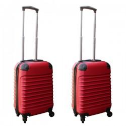 Travelerz kofferset 2 delige ABS handbagage koffers - met cijferslot - 27 liter - rood