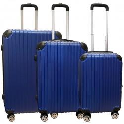 Travelerz kofferset 3 delig met wielen en cijferslot - ABS - blauw (1627)